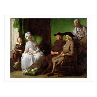 La familia del artista (aceite en lona) tarjetas postales