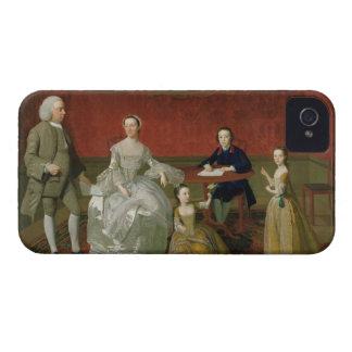 La familia del Buckley-Verraco, c.1758-60 (aceite Carcasa Para iPhone 4 De Case-Mate