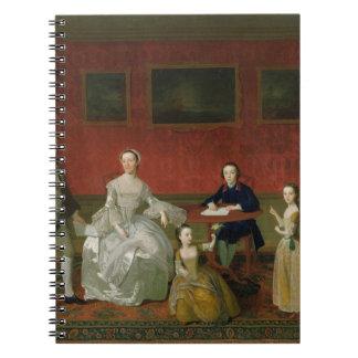 La familia del Buckley-Verraco, c.1758-60 (aceite  Libro De Apuntes Con Espiral