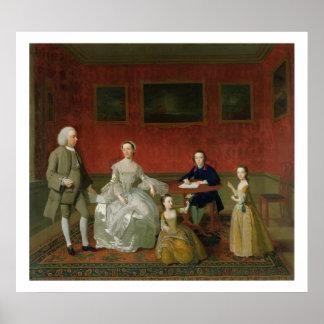 La familia del Buckley-Verraco c 1758-60 aceite Poster