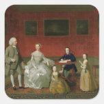 La familia del Buckley-Verraco, c.1758-60 (aceite Pegatina Cuadrada