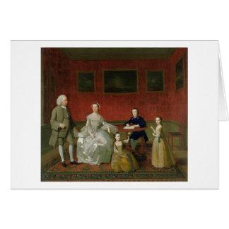 La familia del Buckley-Verraco, c.1758-60 (aceite  Tarjeta De Felicitación