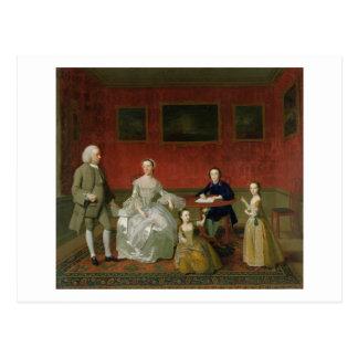 La familia del Buckley-Verraco c 1758-60 aceite Tarjeta Postal
