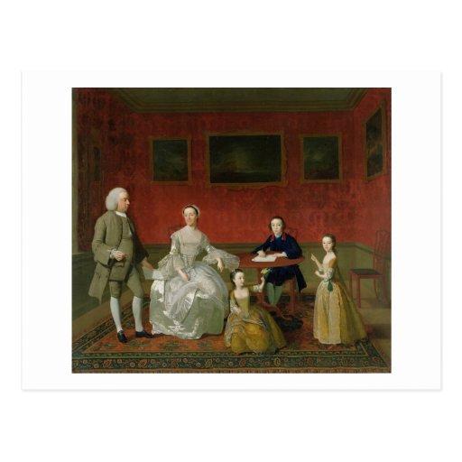 La familia del Buckley-Verraco, c.1758-60 (aceite  Tarjeta Postal