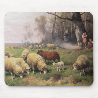 La familia del pastor alfombrilla de ratón