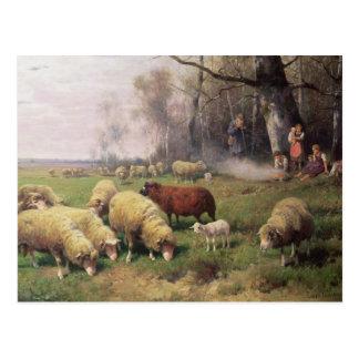 La familia del pastor tarjetas postales