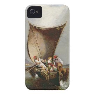 La familia del pescador (aceite en lona) Case-Mate iPhone 4 cobertura