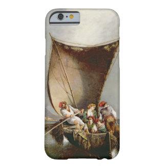 La familia del pescador (aceite en lona) funda de iPhone 6 barely there