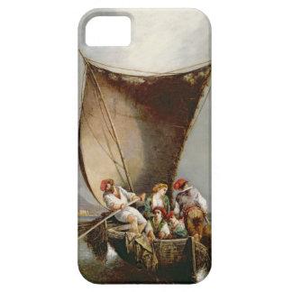 La familia del pescador (aceite en lona) funda para iPhone 5 barely there