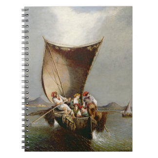 La familia del pescador (aceite en lona) libreta