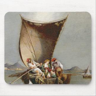 La familia del pescador (aceite en lona) mousepad