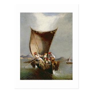 La familia del pescador (aceite en lona) postales