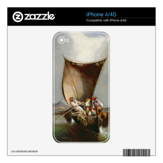La familia del pescador (aceite en lona) skins para iPhone 4S