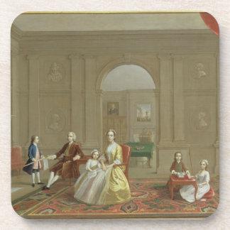 La familia del tocino de Juan, c.1742-43 (aceite e Posavasos