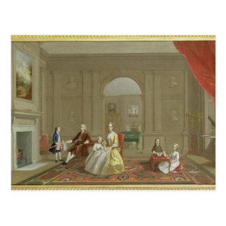 La familia del tocino de Juan, c.1742-43 (aceite Postal