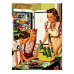 La familia del vintage en el papá de la mamá de la tarjetas postales