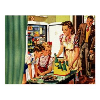 La familia del vintage en el papá de la mamá de la postales