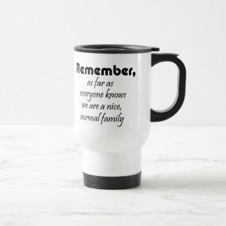 La familia divertida cita coffeecups de los taza térmica