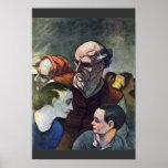 La familia en la barricada, por Daumier Honoré (B Posters