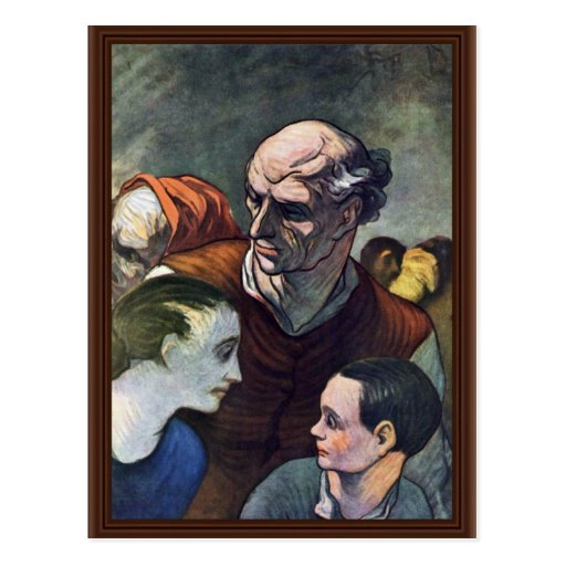 La familia en la barricada, por Daumier Honoré (B Postal