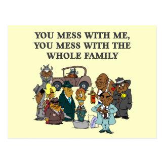 La familia entera tarjetas postales