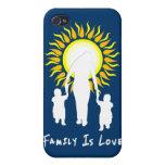 La familia es amor Sun iPhone 4 Protectores