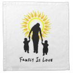 La familia es amor Sun Servilletas Imprimidas