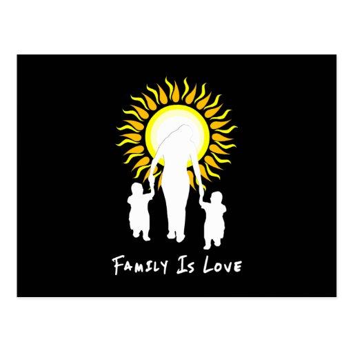 La familia es amor Sun Tarjetas Postales