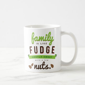 La familia es como cita divertida del dulce de azú taza