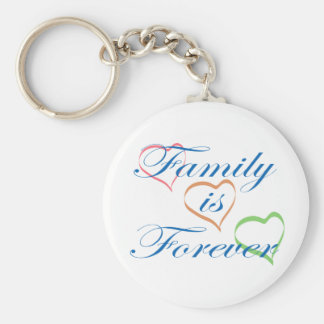 La familia es Forever Llavero Redondo Tipo Pin