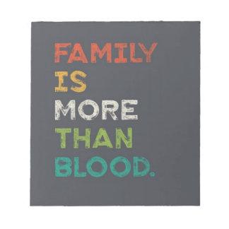 La familia es más que amor bloc de notas