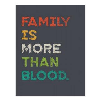 La familia es más que amor tarjetas postales