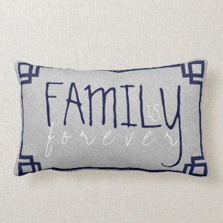 La familia es para siempre lino gris y marco azul