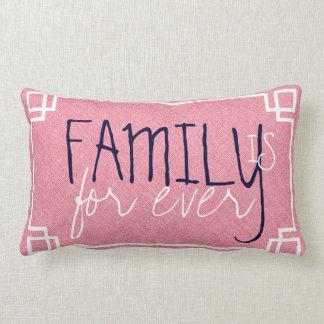 La familia es para siempre lino rojo coral y marco
