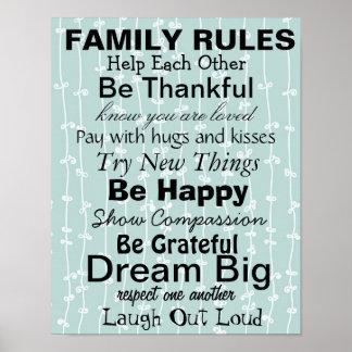 ¡La FAMILIA GOBIERNA, inspiración para una familia Posters
