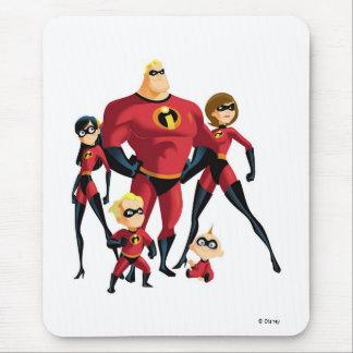 La familia increíble Disney Alfombrilla De Ratón