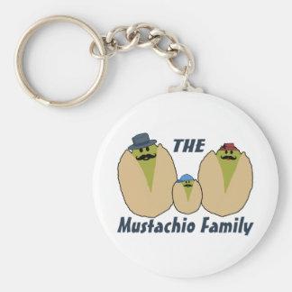 La familia italiana del Mustachio Llaveros