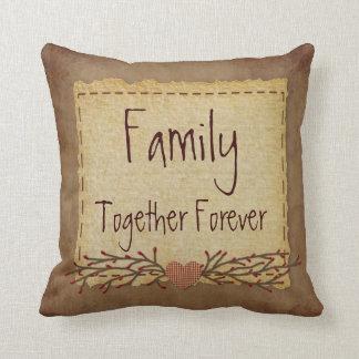 La familia junta soporta para siempre almohada