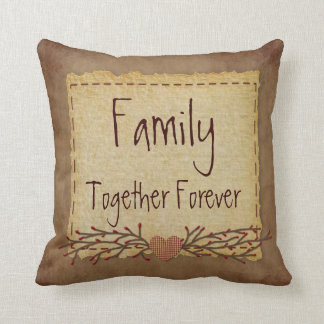La familia junta soporta para siempre cojin