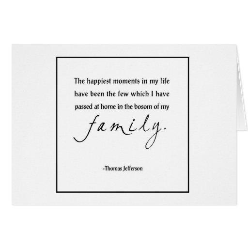 La familia más feliz tarjeta pequeña