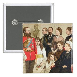 La familia real, 1880 pin cuadrada 5 cm