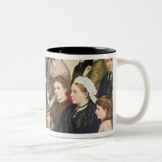 La familia real, 1880 taza