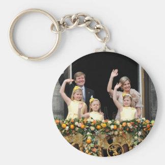 La familia real holandesa llavero redondo tipo pin