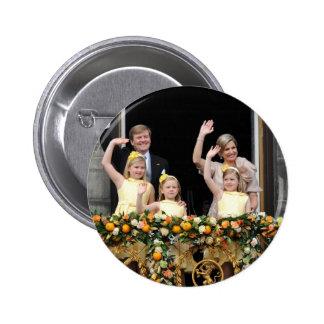 La familia real holandesa pin redondo de 2 pulgadas