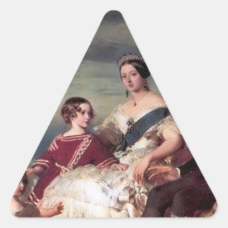 La familia real colcomanias de triangulo personalizadas