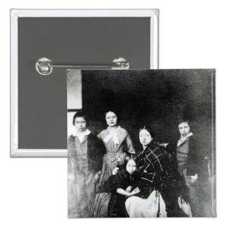 La familia real pin cuadrada 5 cm