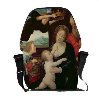 La familia santa, 1522 (aceite en el panel) bolsa messenger