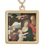 La familia santa, 1522 (aceite en el panel) joyerias personalizadas