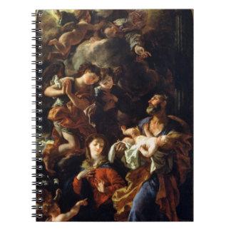 La familia santa (aceite en lona) cuaderno