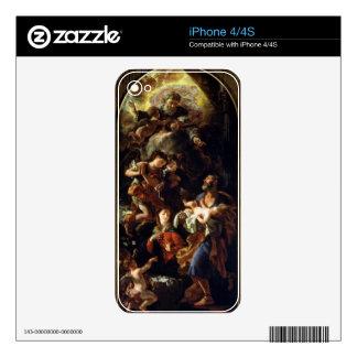 La familia santa (aceite en lona) iPhone 4S calcomanía